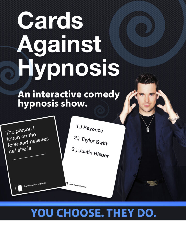 cards against hypnosis poster